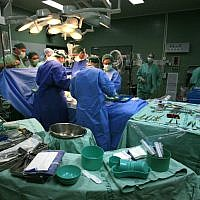 Illustrative photo of an operating room. (Nati Shohat/Flash90)