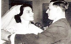 The Gartenbergs' wedding held special significance for both families, which had been uprooted in the years before the Holocaust. (Courtesy of the Gartenberg family)