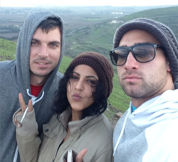 Jeremy Gould, Birthright friend Shira and Jake Lemmerman in the Golan (Courtesy Instagram photo by Jake Lemmerman)