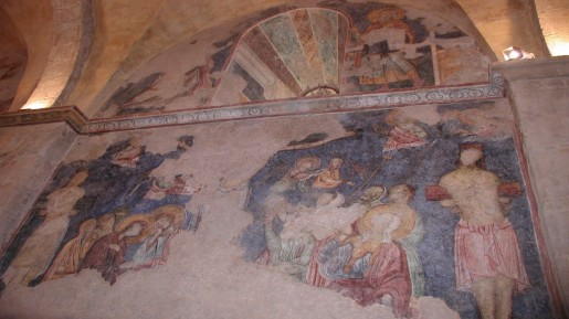 One of the frescos at Church of the Resurrection, Abu Gosh (photo: courtesy Shmuel Bar-Am)