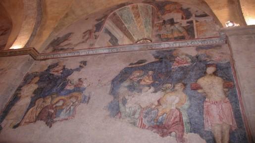 One of the frescos at Church of the Resurrection, Abu Gosh (photo: courtesy Shmuel Bar-Am)