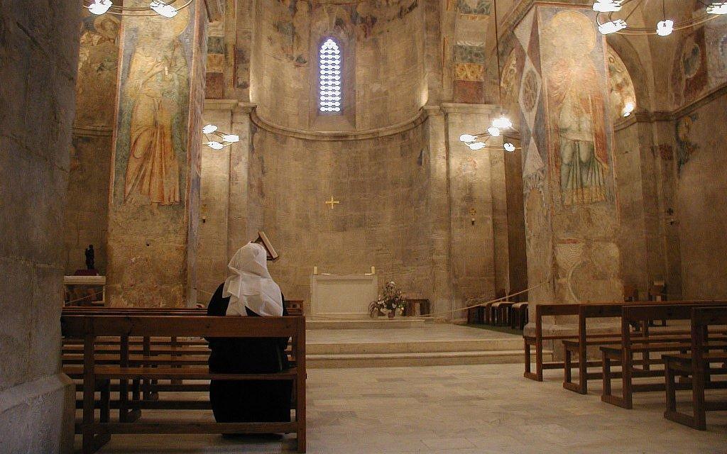 The church's interior (photo credit: Shmuel Bar-Am)
