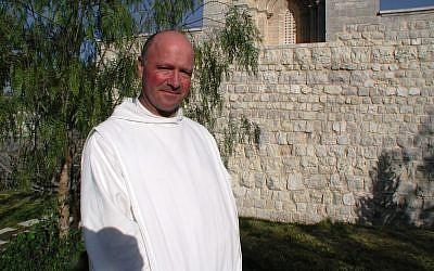 Brother Olivier, Church of the Resurrection, Abu Gosh (photo: courtesy Shmuel Bar-Am)