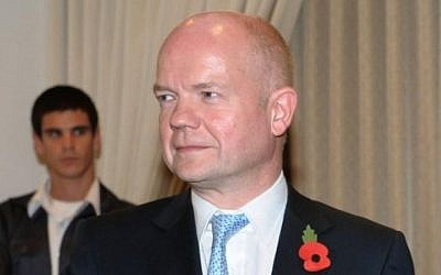 British Foreign Secretary William Hague (photo credit: Amos Ben Gershom/GPO/Flash90)