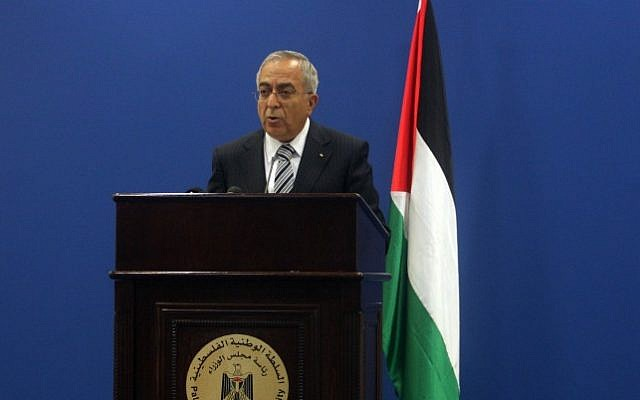 Palestinian Prime Minister Salam Fayyad (photo credit: Issam Rimawi/Flash90)