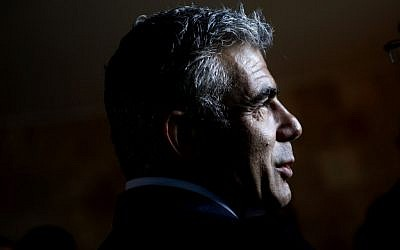 Yair Lapid on Monday, December 10. (photo credit: Miriam Alster/Flash90)