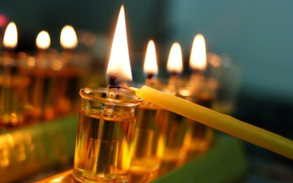 A Hanukka menorah (Flash90)