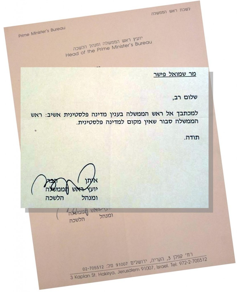 Rabin Formally Opposed A Palestinian State More Than A Year After