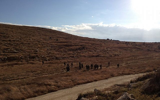 IDF Central Command trackers during the drill (Photo credit: Mitch Ginsburg/ Times of Israel)