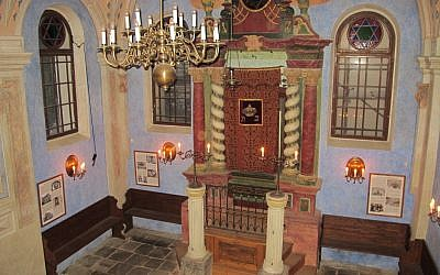 The restored synagogue in Jicin, Czech Republic, will serve as one of 10 sites  in a planned network of new Jewish museums. (Ruth Ellen Gruber/JTA)