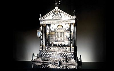 Hannukah candelabrum. (illustrative photo credit: Publicity/Skirball Center, Los Angeles)