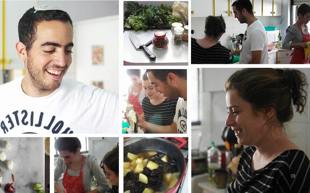 A montage of Jerusalem Village activities, with Yonatan Malich in the upper lefthand corner (photo credit: Hadas Glazer/Courtesy Jerusalem Village)