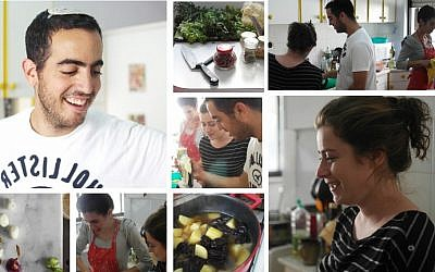 A montage of Jerusalem Village activities, with Yonatan Malich in the upper lefthand corner (photo credit: Hadas Glazer/Courtesy Jerusalem Village)