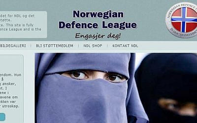The Norwegian Defence League's website.