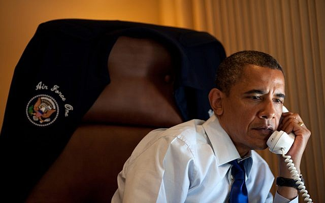 President Barack Obama (Pete Souza/White House via JTA)