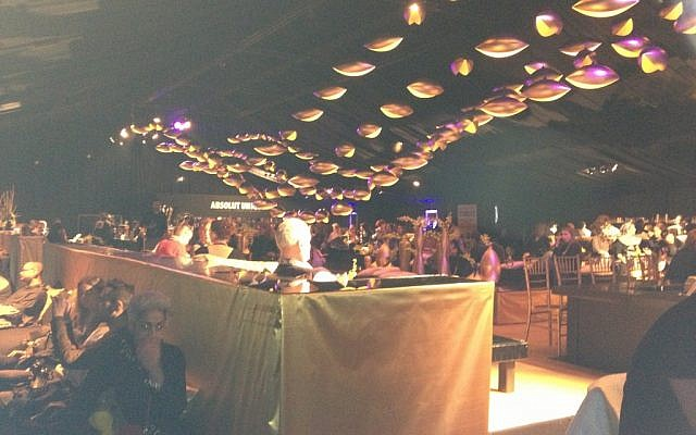 A look at Gindi Fashion Week's bar/lobby (photo credit: Jessica Steinberg/Times of Israel)
