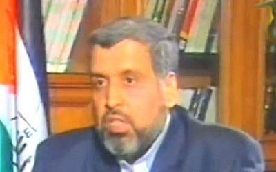 Islamic Jihad chief Ramadan Shalah (photo credit: YouTube screen capture)