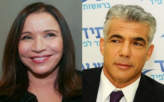 Yesh Atid party head Yair Lapid (right) and Labor Party chairwoman Shelly Yachimovich (photo by Yossi Zeliger/Roni Schutzer/Flash90)