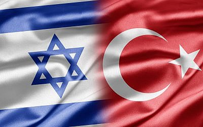 Turkish and Israeli flags (via Shutterstock)