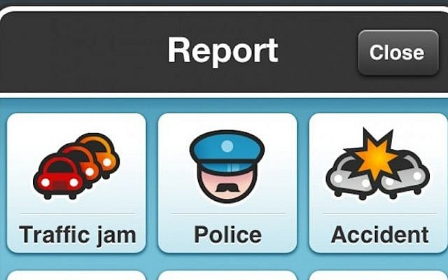 Waze screenshot (Photo credit: Courtesy)