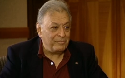 Zubin Mehta in Channel 2's 'Anashim' interview Tuesday night (Courtesy screengrab)