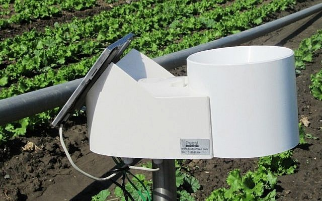An Agrolan remote, Internet-connected weather station (Photo credit: Courtesy)