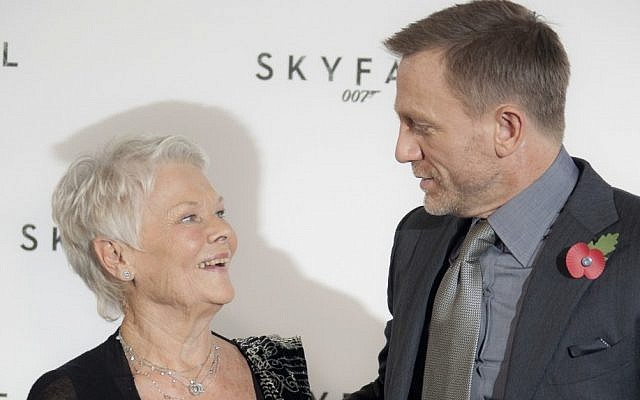 Dame Judi Dench -- who plays intelligence chief 'M' -- with Daniel Craig at a photo call for the new James Bond film Skyfall last year (AP Photo/Joel Ryan)