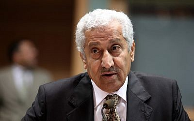 Jordanian Prime Minister Abdullah Ensour, November 28, 2011 (photo credit: AP)