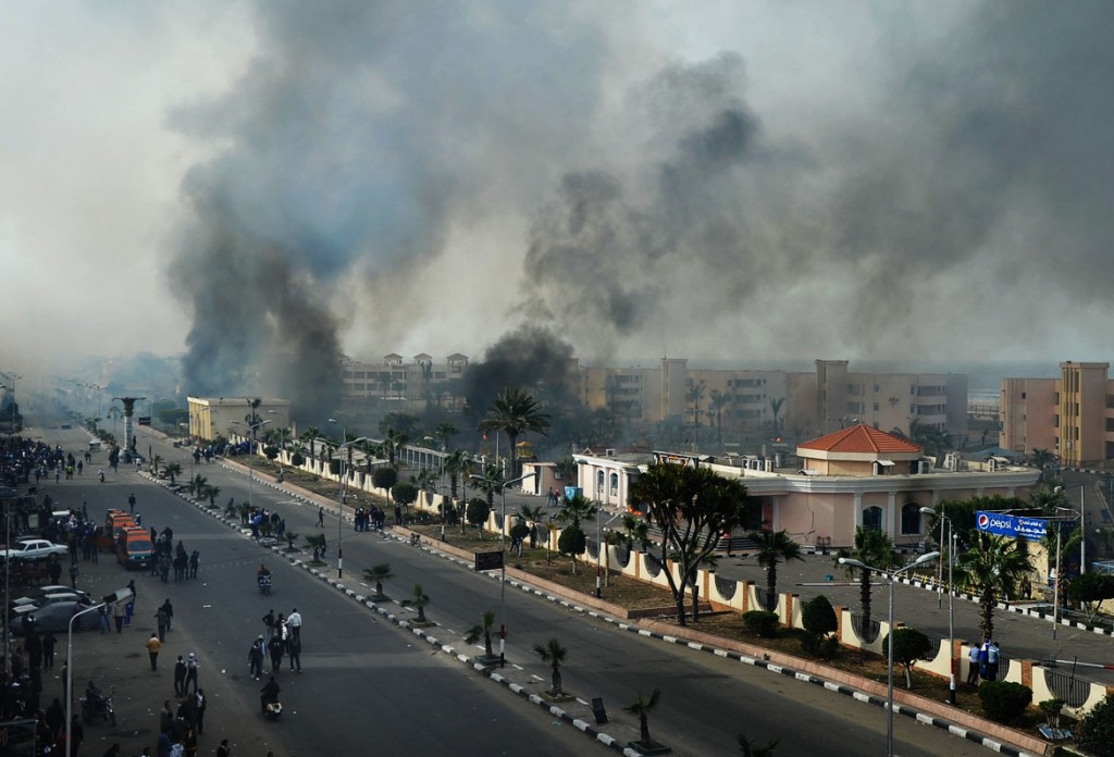 Death toll rises to five in port said clashes the times of israel file photo of port said after clashes between protesters and police on january 27 publicscrutiny Gallery