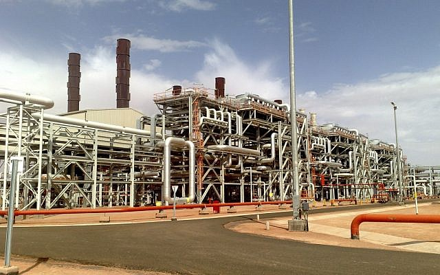 The Ain Amenas natural gas field in southern Algeria, where Islamist militants raided and took hostages Wednesday Jan. 16, 2013. (photo credit: AP/BP)