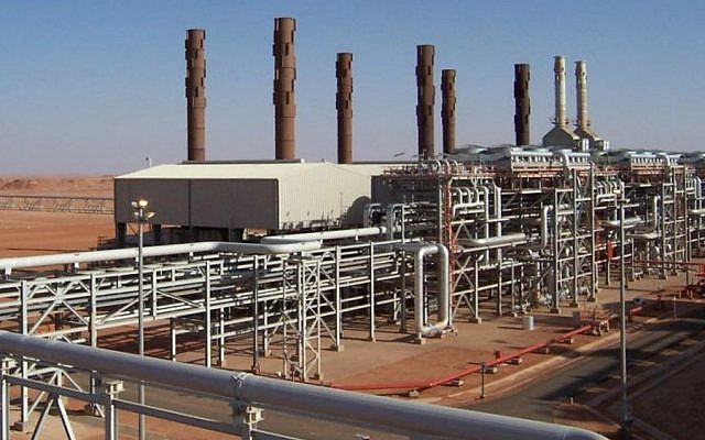 The Amenas natural gas field in the eastern central region of Algeria, where Islamist militants took hostages Wednesday Jan. 16, 2013 (photo credit: BP/AP)