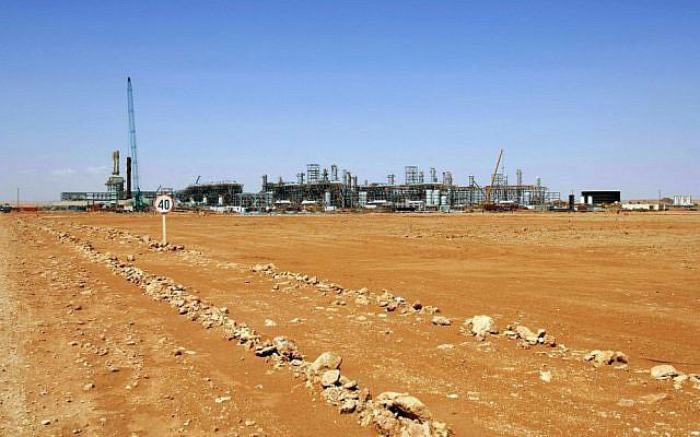 The Ain Amenas gas field in Algeria, where Islamist militants raided and took hostages Wednesday January 16, 2013. (photo credit: AP/Kjetil Alsvik, Statoil via NTB scanpix)