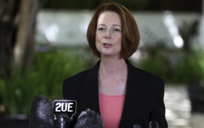 Australian Prime Minister Julia Gillard (photo credit: AP Photo/Firdia Lisnawati, File)
