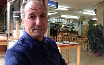 Azmi Ibrahim, owner of the Lebanese Restaurant in Abu-Ghosh (photo credit: Elhanan Miller/Times of Israel)