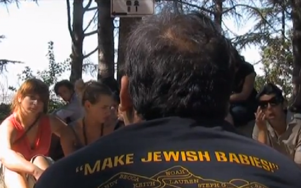 """A documentary called """"Make Jewish Babies"""" stirred public discussion in the Netherlands after it was aired by the Jewish Broadcasting Company last year. (Jewish Broadcasting Company via JTA)"""