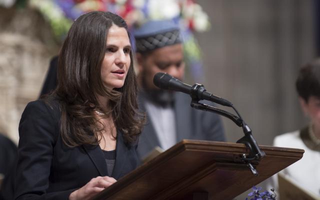 Rabbi Sharon Brous of the IKAR congregation in Los Angeles. (Donovan Marks/Washington National Cathedral via JTA)