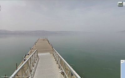 The Sea of Galilee, as seen from Google Maps. (screen capture:Google Maps)