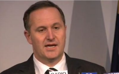 New Zealand Prime Minister John Key. (screen capture: Youtube/nzheraldtv)