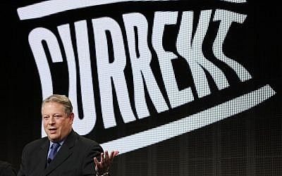 Former vice president Al Gore, Current TV Chairman and Co-Founder (photo credit: AP/Danny Moloshok)