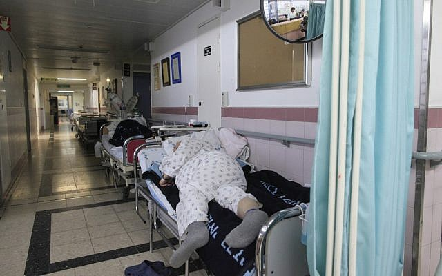 Illustrative photo of patients at the Barzilai Hospital in Ashkelon, in 2011. (photo credit: Tsafrir Abayov/Flash90)