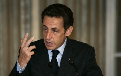 Nicolas Sarkozy speaks at a meeting with European leaders to discuss the situation in Gaza,  Jan, 2009. (photo credit: Olivier Fitoussi /FLASH90)