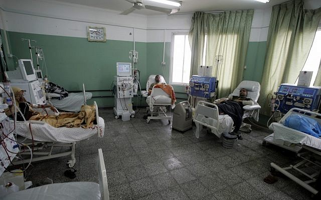 Inside the Abu Yousef Al-Najjar Hospital in Rafah in 2009 (photo credit: Abed Abed/Flash90)