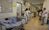 A patient waits for a room in the Sourasky Medical Center Ichilov in Tel Aviv. (Gideon Markowicz/Flash90)