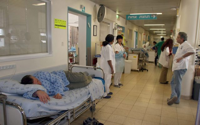 Crowded Sourasky Medical Center Ichilov, Tel Aviv. (photo credit: Gideon Markowicz/Flash90)