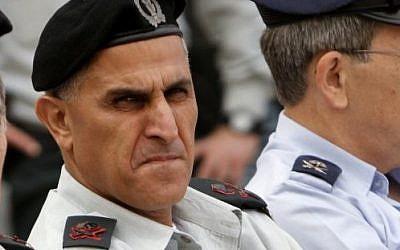 Major General Sami Turgeman, second from left, in 2011 (photo credit: Miriam Alster/Flash90)