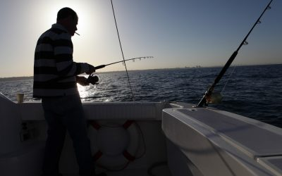 A fisherman. (photo credit: Yaakov Naumi/Flash90)