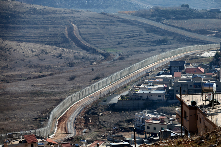 The Israeli-Syrian border on the Golan Heights (photo credit: Moshe Shai/Flash90)