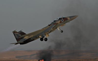 An Israeli Air Force F-15 fighter jet during a training exercise (Ofer Zidon/Flash90)