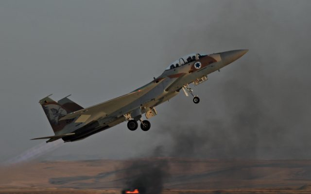 An IAF F-15 fighter jet during a training exercise (photo credit:  Ofer Zidon/Flash90)