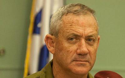 IDF Chief of Staff Benny Gantz, 2012 (photo credit: Uri Lenz/Flash90)
